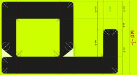 Tipografía geométrica sans con proporciones áureas. 2014