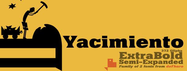 Yacimiento -2x1 Fonts-