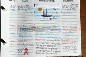 guest book entry