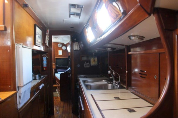The galley, looking aft