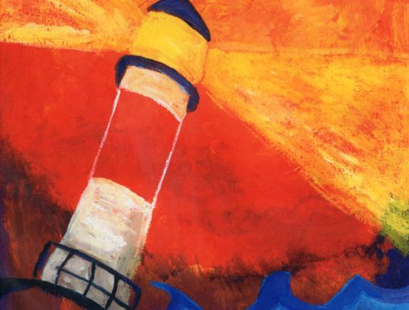 lighthouse in red