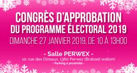 Congrès d'approbation du programme électoral 2019
