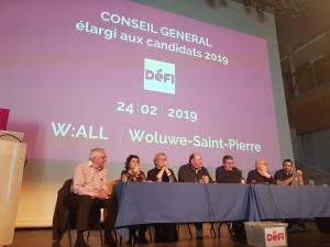 Élections 2019 : DéFI dévoile sa liste bruxelloise en vue du triple scrutin de mai 2019