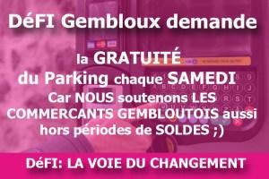 Parking gratuits les samedis de juillet!