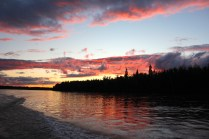 Athabasca River sunset 2013