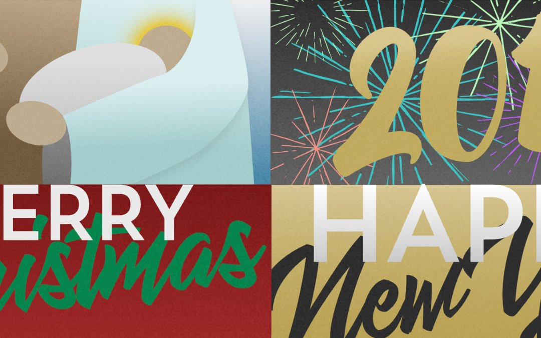 Free Christmas and New Years Social Media Images