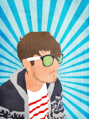 A portrait I did of my best friend. A long process involving lots of layers and vector shapes.