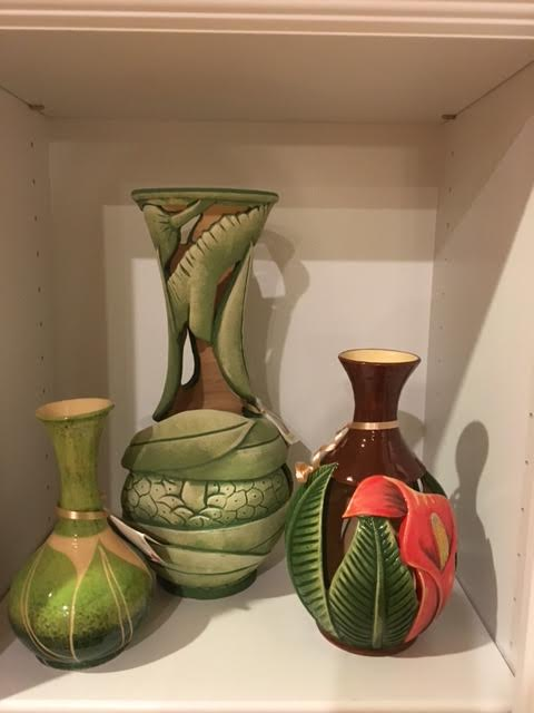 Handmade local Jamaican pottery vases