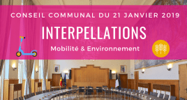 Interpellations du conseil communal du 21/01/2019