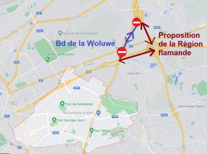 La Liste du Bourgmestre s'oppose fermement à la fermeture de l'accès au Ring depuis le boulevard de la Woluwe