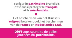 La langue française fait partie du patrimoine bruxellois