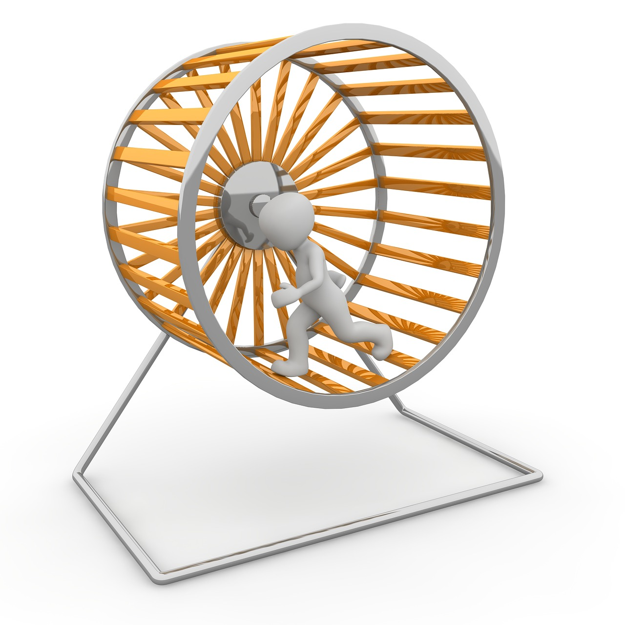 To illustrate life on hamster wheel