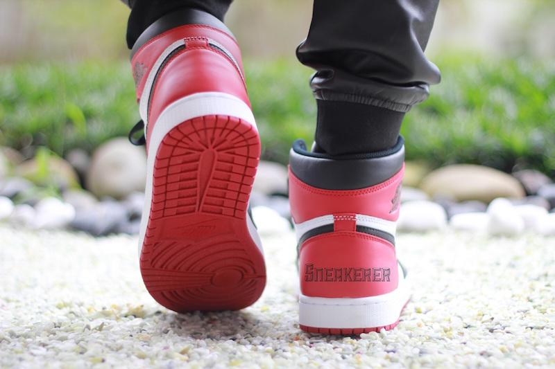 Air Jordan 1 Retro High OG Black Toe 5