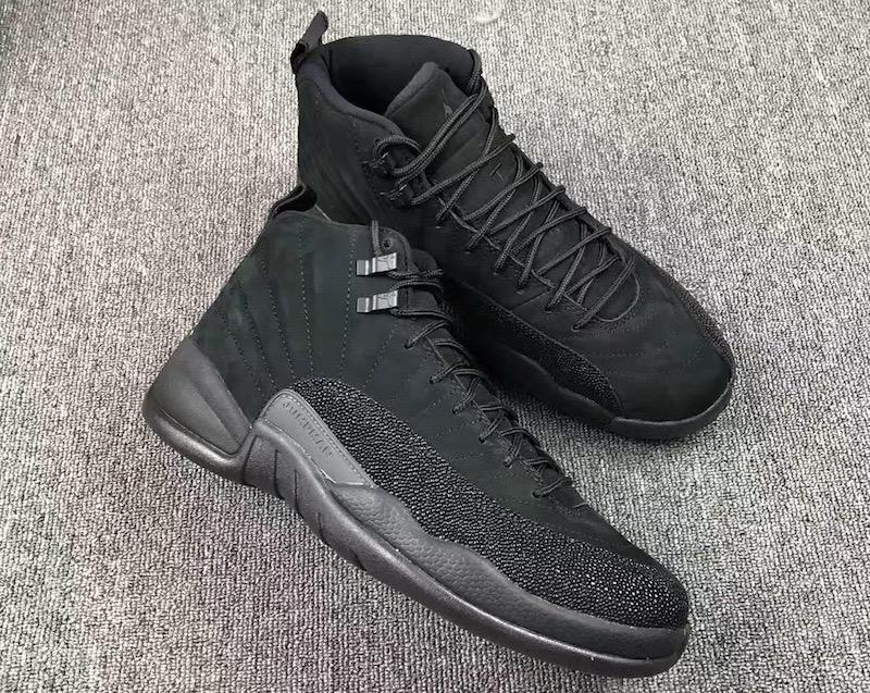 2016 Air Jordan 12 OVO Black Black Metalli Gold Shoes