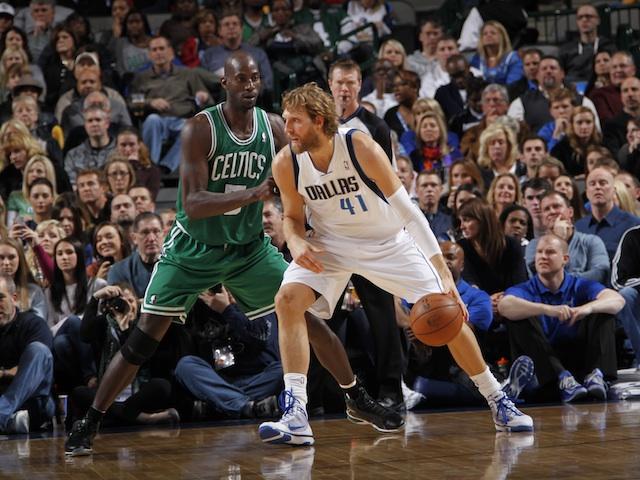 Mavericks Dirk Nowitzki Celtics Kevin Garnett