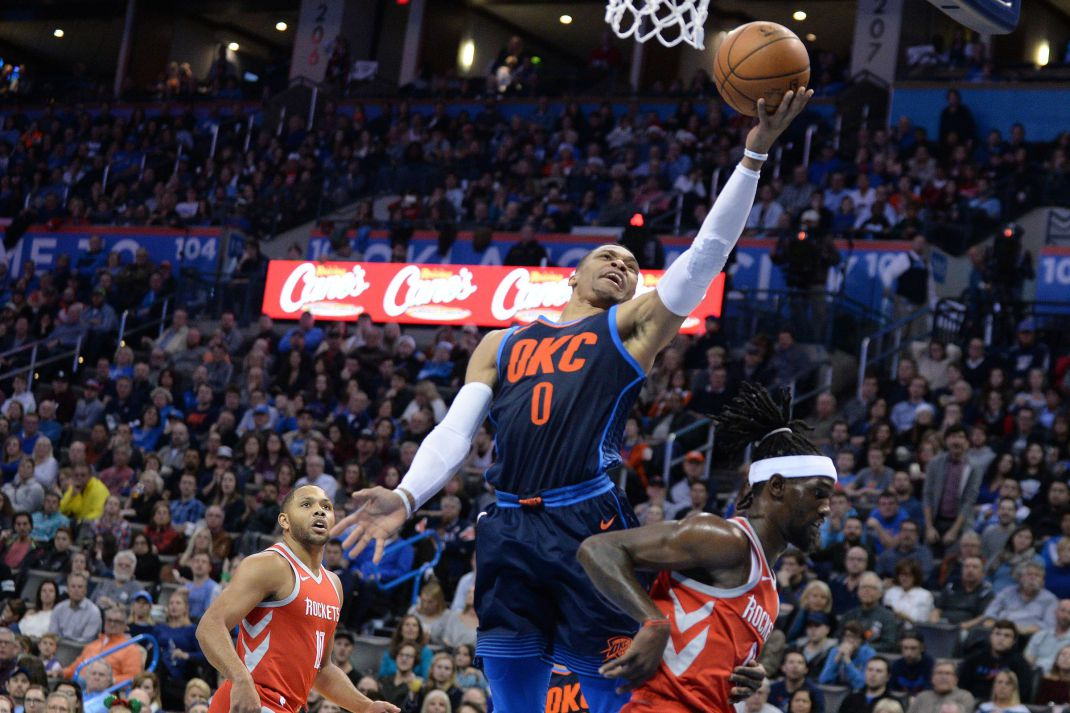 Westbrook, Beverley get heated again as Thunder roll