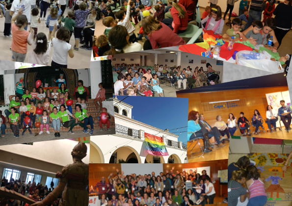 collage encuentro familias lgtb