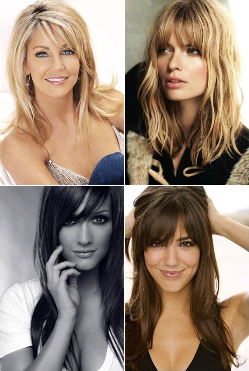 cortes de cabelo com franja - moda anti-idade - frange haircut