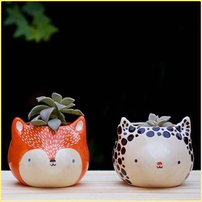 Decoração : vasos de cerâmica para mesa