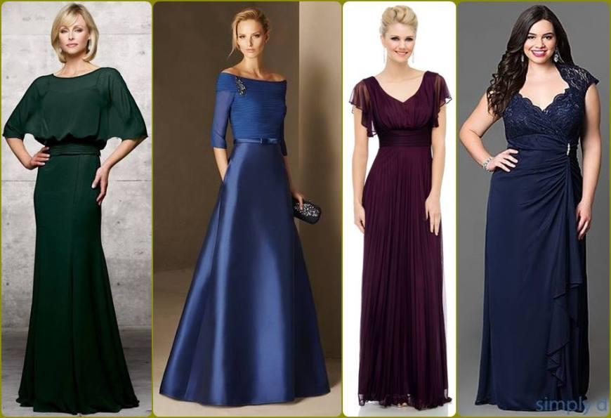 vestido para a mãe da noiva ou noivo - moda anti-idade - longo, plus size - defrenteparaomar.com