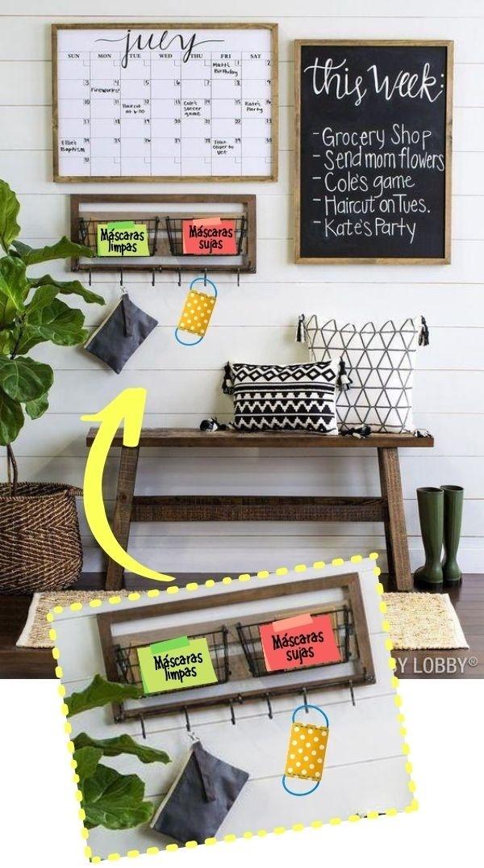 Crie um cantinho especial para higienização na entrada da casa