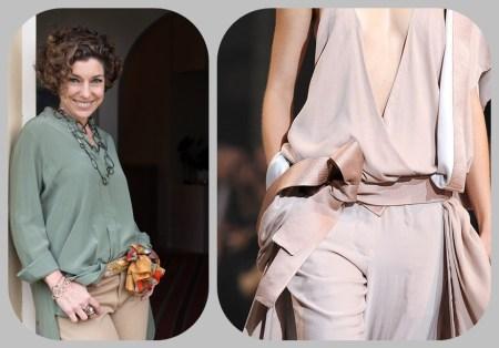 laço da moda - fita e lenço na cintura