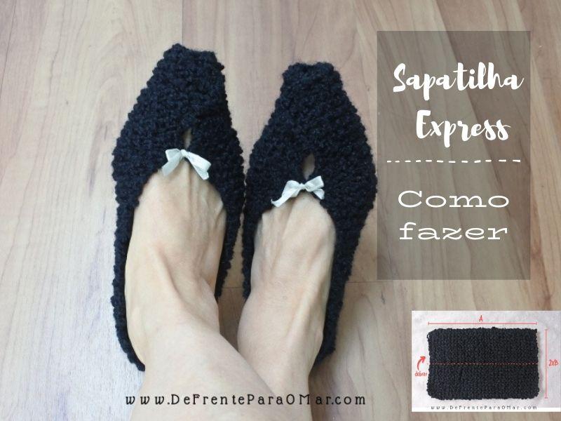 Como fazer uma sapatilha express de tricô