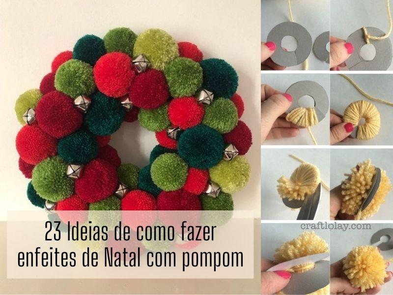 23 Ideias de como fazer enfeites de Natal com pompom