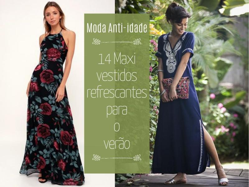 14 Maxi vestidos refrescantes para o verão