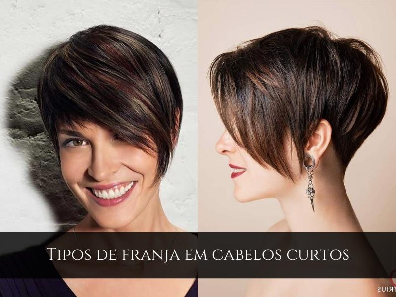 Tipos de franja em cabelos curtos