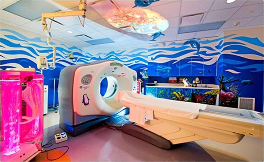 Hospital infantil ludico, decoração de hospital infantil