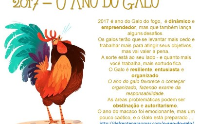 2017 o ano do Galo - Year of the Rooster