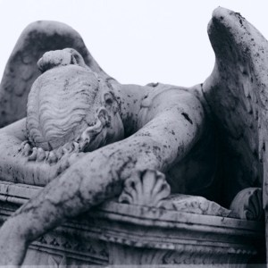 Statute of a grieving angel / Thomas Chan