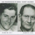 Danny Goldman then and with age progression