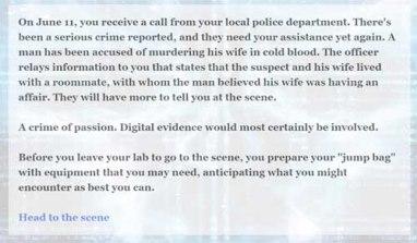 Erin Wimpy Robert Price Mock scene digital forensics