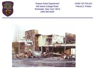 holiday inn fire 1978 greece police ny