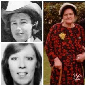 Sally Shepherd, Margaret Lightfoot, and Clara Kirton