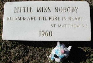 "Prescott community members called the child ""Little Miss Nobody."" Pettem photo"