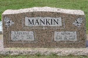 Grave Margarette Laverne Mullins Mankin Gena Forsyth