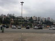 Car Park with Sao Paulo skyline in background