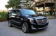 For the first time, the Escalade is equipped with automatic park assist. The Escalade is powered by a 6.2-inch cast-aluminum V8 engine. It makes 420 hp and 460 lb-ft of torque, sent through an 8-speed automatic transmission to either rear-wheel drive (RWD) or available full-time 4-wheel drive (4WD). Fuel economy for the 2017 Cadillac Escalade is 15 mpg city/22 highway/17 combined with RWD and 15/20/17 with 4WD. Smoothing out the Escalade's ride is GM's Magnetic Ride Control. A shock absorber fluid is loaded up with metal shavings and a current is run through the fluid, allowing the system to change the stiffness of the shocks for different driving conditions and respond to changes in the road in record time