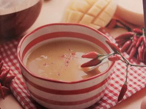 Mango Soup with Lemongrass and Cinnamon Oil (image from Aroma Kitchen)
