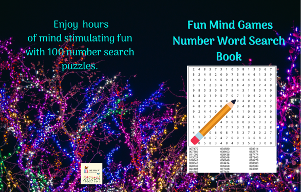 8.5 by 11 128 Number Word Search Book Fun Mind Games