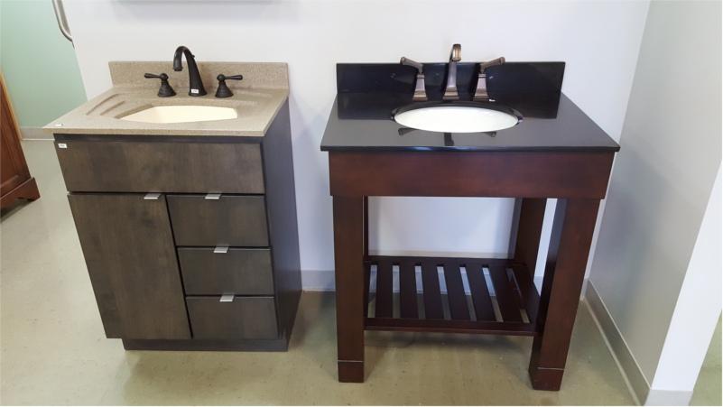 Degrees of Comfort Brattleboro Vanity, Sink, and Faucet Displays