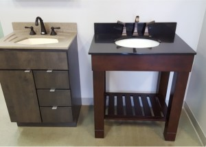 Degrees of Comfort Brattleboro Vanity, Sink, and Faucet Displays