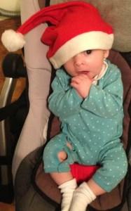 Onze kerstbaby.