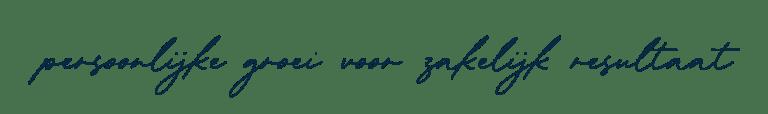Tagline De Groeicoach Blauw 2021