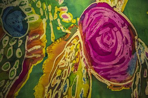 Expositie in aanloophuis De Groene Luiken van abstracte en figuratieve schilderijen in acryl van Scala - Ipse de Bruggen - van 16 juli - 27 augustus 2018