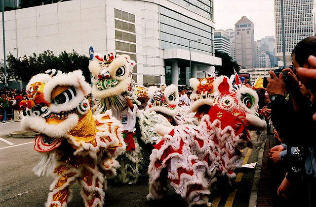 2015 Chinese New Year in Toronto  the Year of the Sheep      Chinese Lion Dance for Chinese New Year 2009  image by Maureen Didde under  CC