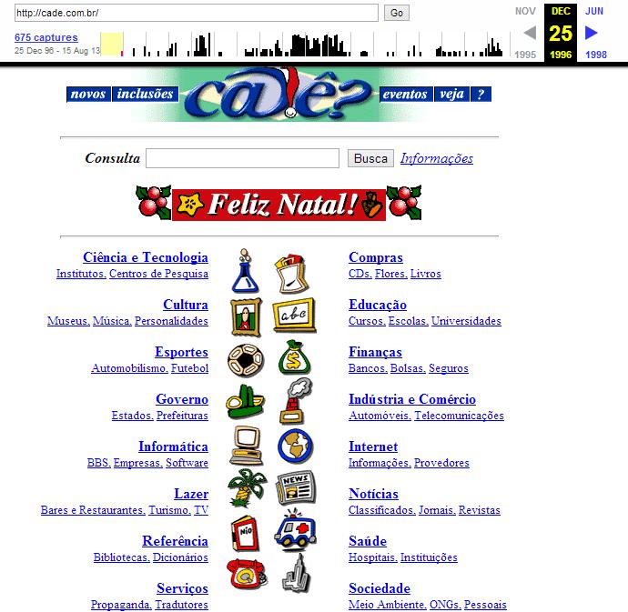 Cadê, o queridinho das buscas brasileiras muito antes da gente resolver começar a usar o Google.